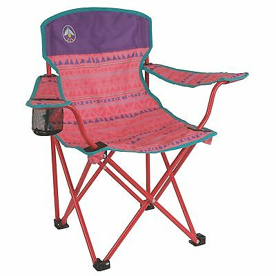 Coleman Kids Camping Glow-in-the-Dark Quad Chair, Tribal Pink/Purple  2000025293