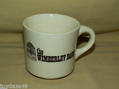 Wimberley Bank Mug Cup White Brown Water Mill WB Graphic USA Vintage Coffee Tea