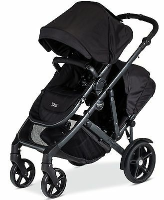 Britax B Ready Inline Twin Baby Double Stroller with Second Seat Black NEW 2017