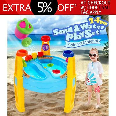 Kids Sand and Water Children Activity Play Transport Table Outdoor Sandpit Toy