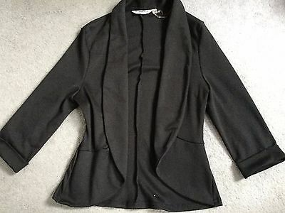 NEW LOOK UNLINED BLACK JACKET WITH 3/4 SLEEVES & ROUNDED CORNERS -AGE 12-13y
