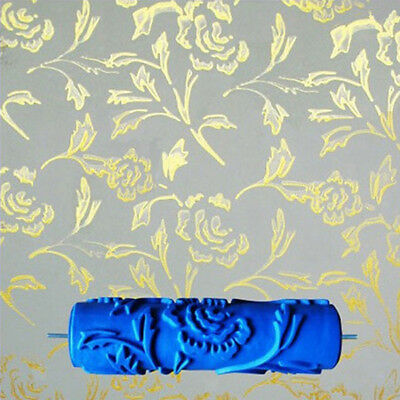 """7"""" Empaistic Peony Pattern Painting Roller Brush for Wall Decor Machine DIY"""