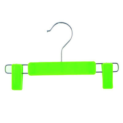 Home Wardrobe Plastic Double Clips Suits Pants Clothes Clothing Hanger Green