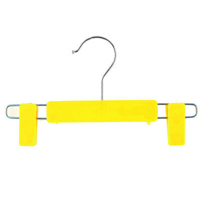 Home Wardrobe Plastic Double Clips Suits Pants Clothes Clothing Hanger Yellow