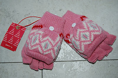 John Lewis Girls Childs Pink Fliptop Gloves Size 2-5 Years BNWT