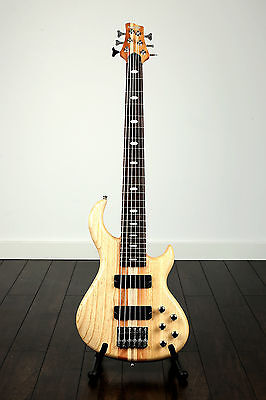 TOULOUSE Quincy 6 String thru neck maple BASS GUITAR through active passive ROCK