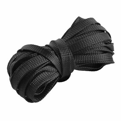 PET Braided Cable Protection Net Wire Sleeving 0.4 Inch Width 39 Feet Long