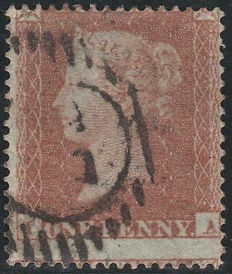 1850 SG16b 1d RED BROWN ARCHER PLATE 100 GOOD/FINE USED BPA CERTIFICATE (IA)