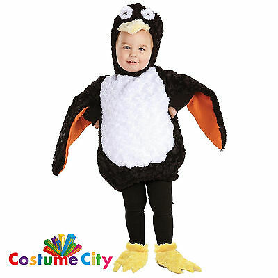 Childs Toddlers Sweet Little Penguin Christmas Fancy Dress Party Costume