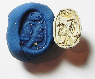 Zurqieh -Af705- Ancient Egypt ,2Nd Intermediate Stone Scarab. 1782 - 1570 B.c