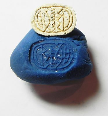 Zurqieh -Af709- Ancient Egypt ,2Nd Intermediate Stone Scarab. 1782 - 1570 B.c