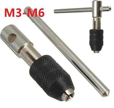 DZ1280 T-Handle Tap Wrench Chuck Type Capacity M3-M6 Adjustable Hand tool ^