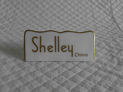 RARE Ceramic Shop Display Advertising Sign Plaque - Shelley China (last one)