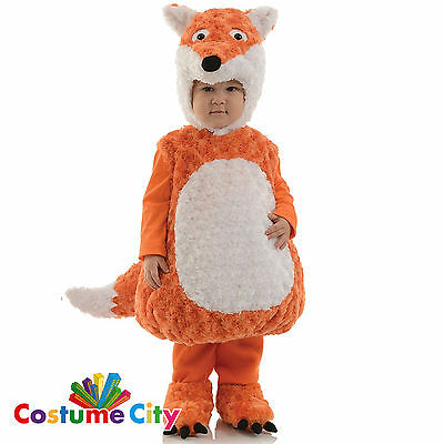 Childs Toddlers Fox Animal Book Week Halloween Fancy Dress Party Costume
