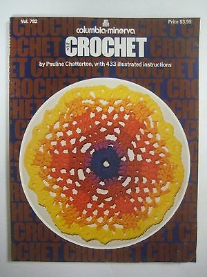 Vintage 1979 CROCHET Book Columbia Minerva Vo. 782 Flowers Edgings Hair Pin Lace