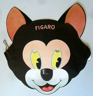 Figaro Cat from Pinocchio Paper Mask 1939 Gillette Razor Advertising Premium