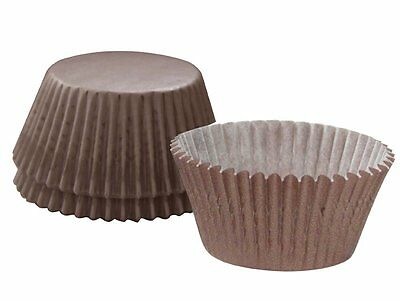 """Cupcake Creations 2""""Height BAKING CUPS Brown 32 Pack No Muffin Pan Needed"""