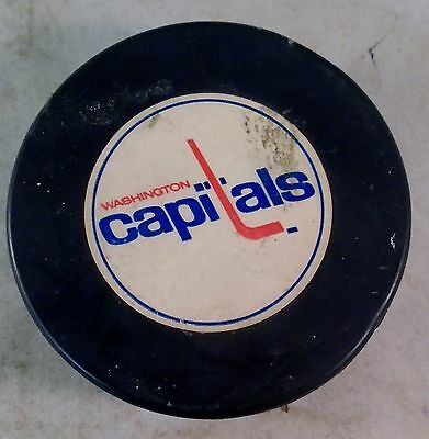 Old Vintage Washington Capitals Official COOPER Hockey PUCK Canada
