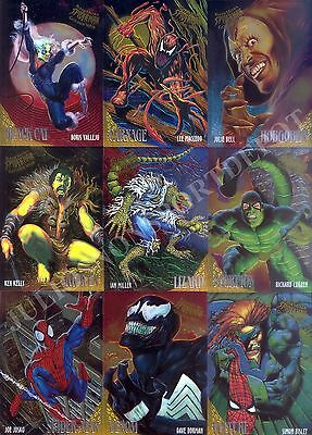Spider-Man 1995 Fleer Ultra Complete Golden Web Insert Chase Card Set 1 To 9 Ma