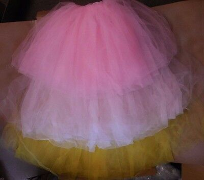 NWT Soft CHIFFON TULLE  ROMANTIC LONG Tutu CandyPink lightpink green or yellow