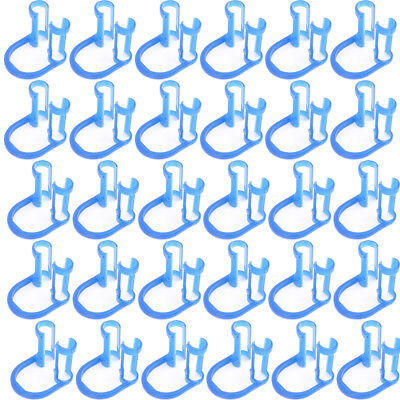 50pcs Disposable Cotton Roll Holder Blue Clip For Dental Clinic