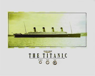 """TITANIC - RELICS, coal, wood, rusticle pieces of/from the RMS TITANIC, 8"""" x 10"""""""