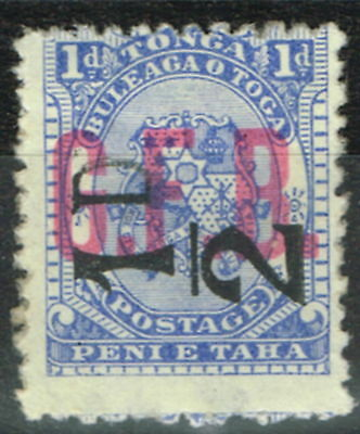 Tonga 1893 1/2d on 1d Ultramarine SG06 Mtd Mint