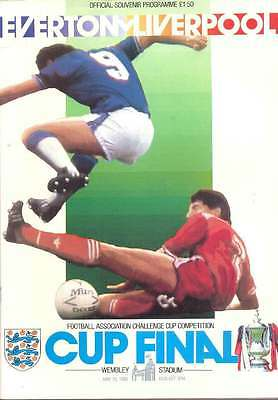 Everton v Liverpool 10 May 1986  FA CUP FINAL FOOTBALL PROGRAMME