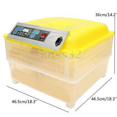 220V 96 Digital Egg Incubator Temperature Control Automatic Turning Chicken
