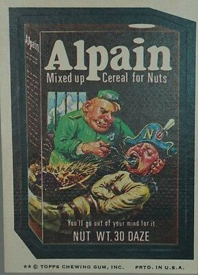 Topps Wacky Packages Alpain - Mixed up Cereal for Nuts Bubble Gum sticker