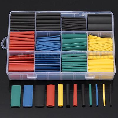 530Pcs 2:1 Heat Shrink Tubing 5 Color Tube Sleeving Wrap Cable Wire 8 Size Box