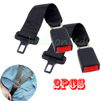 Universal Car Auto Seat Belt Extender Extension Buckle Safety Clip 2 X 36CM