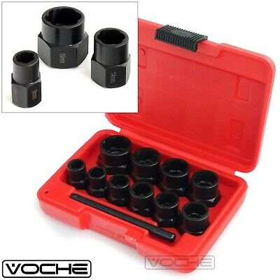 Voche® 10Pc Grip & Twist Sockets Locking Wheel Nut Remover Damaged Rounded Bolts