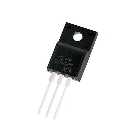2PCS MBRF20100CT 20A 100V  Schottky Rectifier TO-220