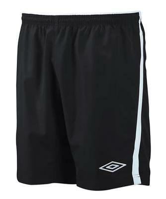 New Umbro Boy's Polyester Football Training Shorts Soccer Casual PE Sport Black