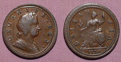 1720 King George I Copper Halfpenny