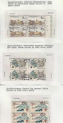Czechoslovakia stamps on old approval cards