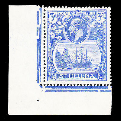 St Helena KGV 1922-37 3d variety Cleft Rock fine mint lightly hinged SG101c £110