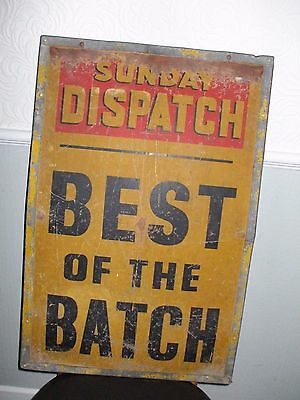 Retro vintage 1950's 1960's newspaper sign stand hoarding plaque industrial