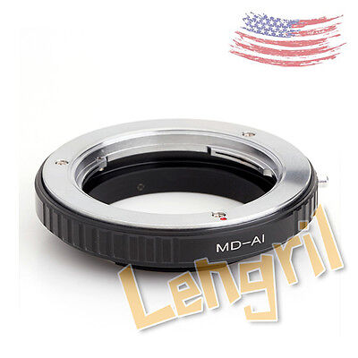 US Macro Minolta MD MC Lens to Nikon F Mount Adapter Ring No Glass For D3100
