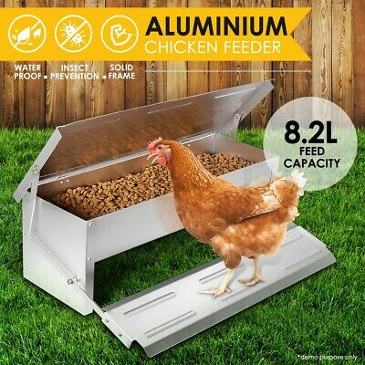 Aluminium Auto Chook Poultry Chicken Food Feeder Treadle Self Opening Mechanism