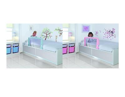 Lindam Bed Rail Guard Bedrail Childrens Easy Fit Extendable Pink Blue BRAND NEW