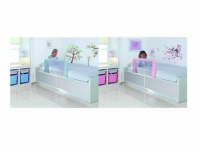 Lindam Bed Rail Guard Bedrail Childrens Toddler Easy Fit Extendable Pink Blue
