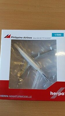 HERPA 529341 - 1/500 AIRBUS A340-300 - PHILIPPINE AIRLINES - 75th ANNIVERSARY