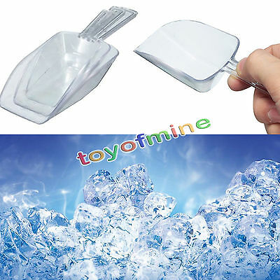3 pcs Mini Clear Plastic Scoops Sweets Candy Buffet Wedding Party Bar Accessorie