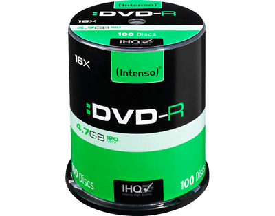 100 Intenso DVD-R Rohlinge 16x full Speed 4,7GB  in Spindel