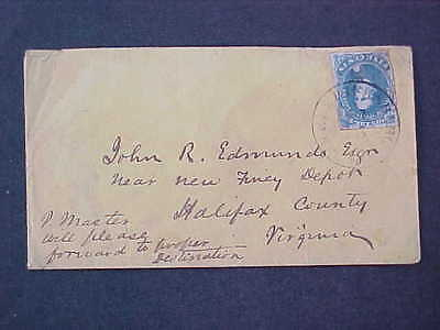 Confederate: Virginia, Fredericksburgh CSA #4 Cover to Halifax County