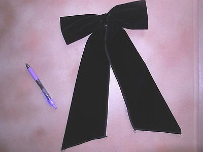 NWT  Black Velvet Dance Costume Accessory Bow  Wolff Fording