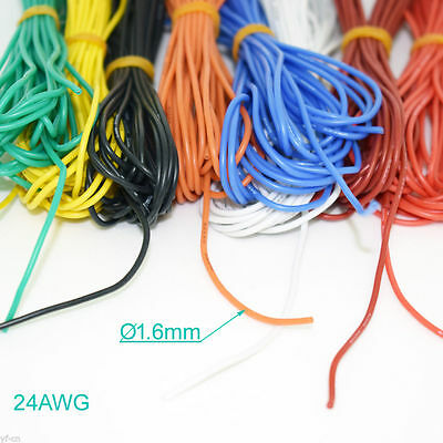 1M/3.3ft 24AWG Flexible Soft Silicone Wire Tin Copper RC Electronic Cable 8color