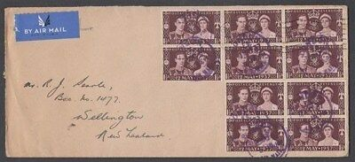 Gb 1937 Coronation Fdc Airmail To New Zealand (Id:281/d42045)